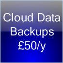 Cloud data backups from £50 a year
